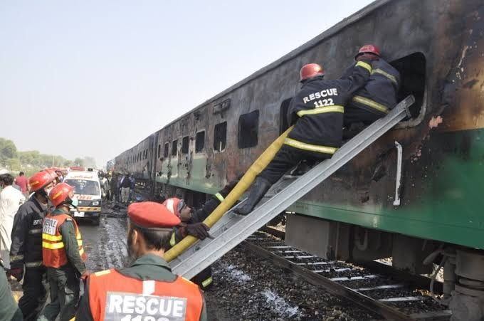 Survivors say burning train took 20 minutes to stop, 74 dead