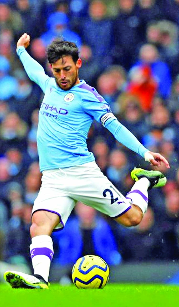 Man City's Silva a doubt for L'pool game