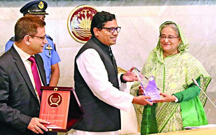 PM Hasina receives three international awards