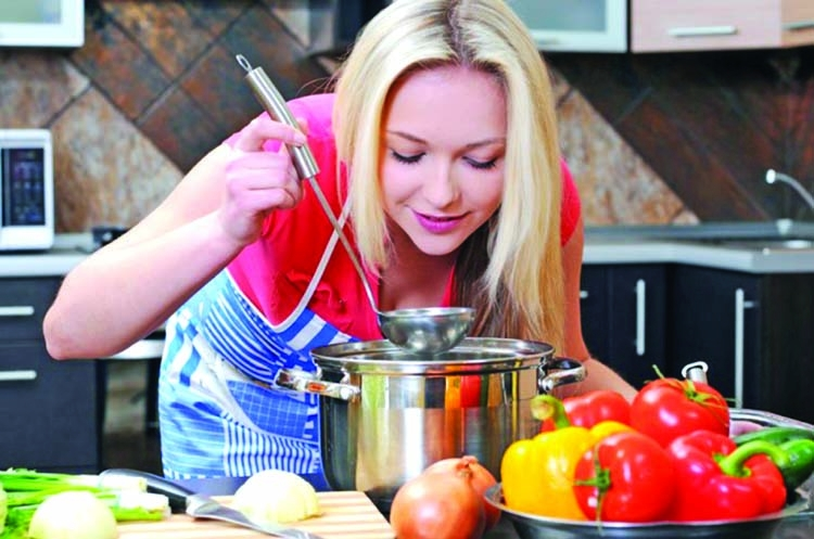 Cook healthy foods with less fat and calories