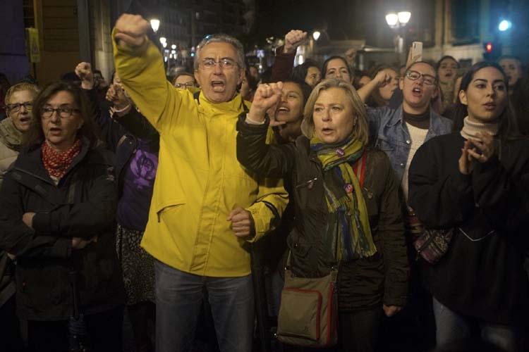 Thousands protest verdict in sex crime case