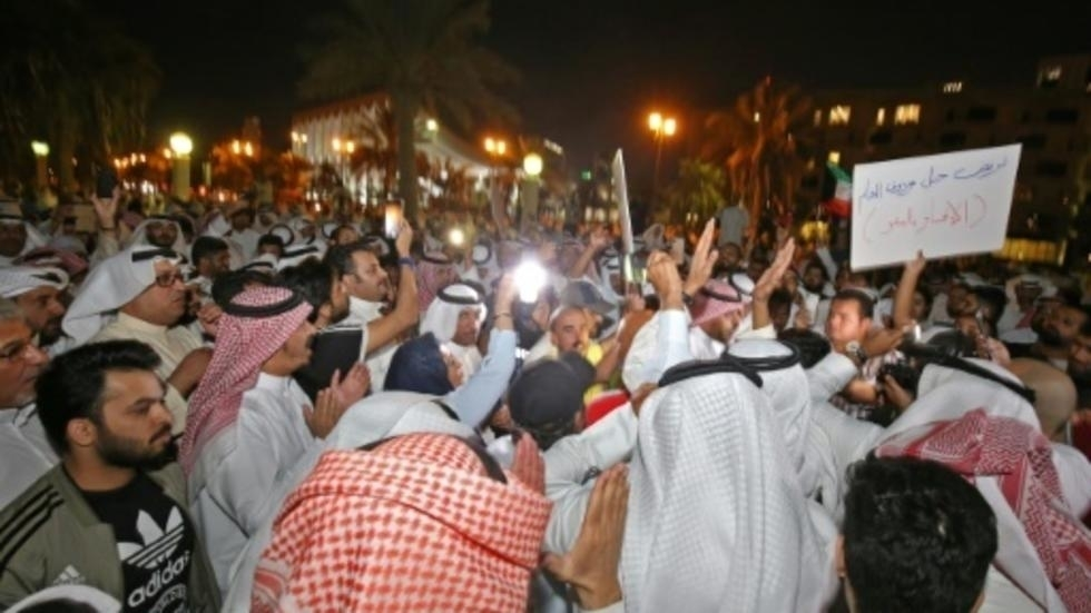 Hundreds protest corruption in Kuwait