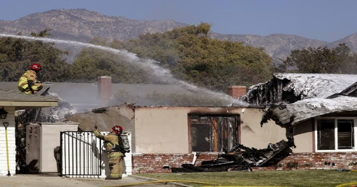 Pilot killed after small plane crashes into residence in Southern California