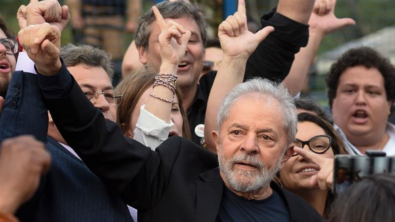 Brazilian ex-President Lula released from jail