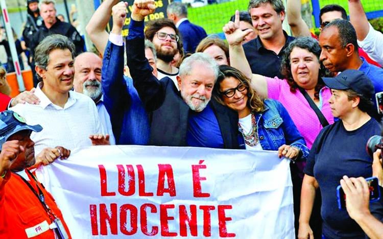 Brazil ex-President Lula freed from jail