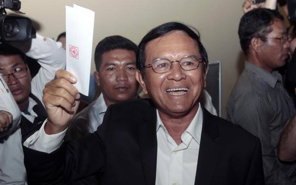 Cambodian opposition leader freed from house arrest