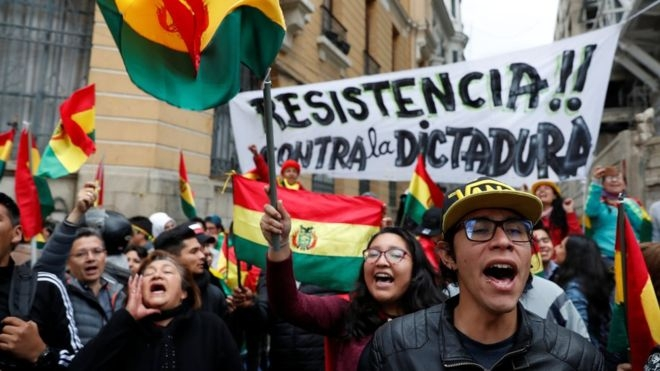 Bolivia ruling party demands support for president