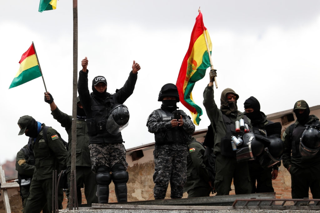Police abandon posts outside Bolivia's presidential palace
