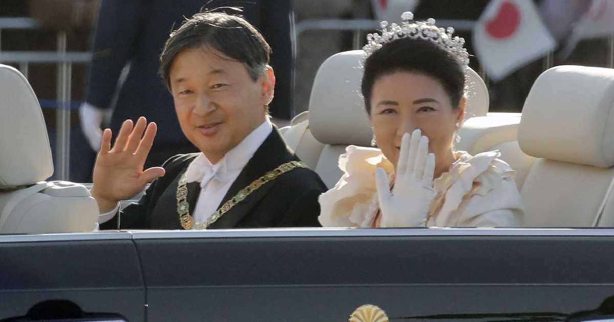 Japan emperor greets public in parade marking enthronement
