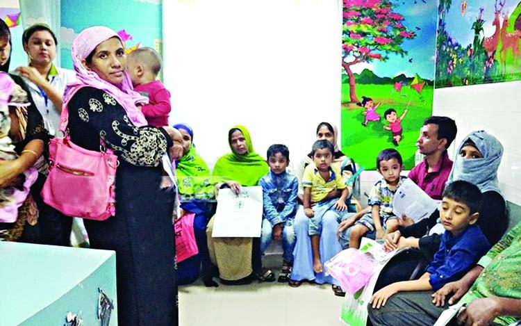 Children, elderly crowd hospitals