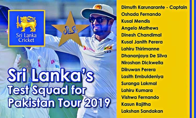 SL announce squad for historic Pak tour