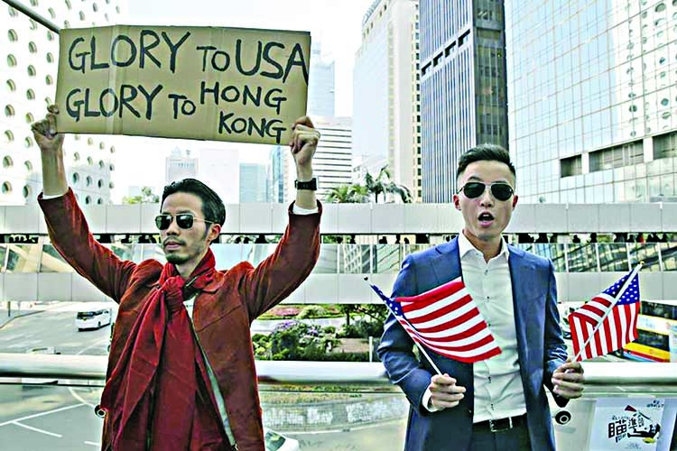 China slams US for passing the Hong Kong Democracy Act
