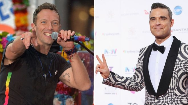 Coldplay beat Robbie Williams to number one