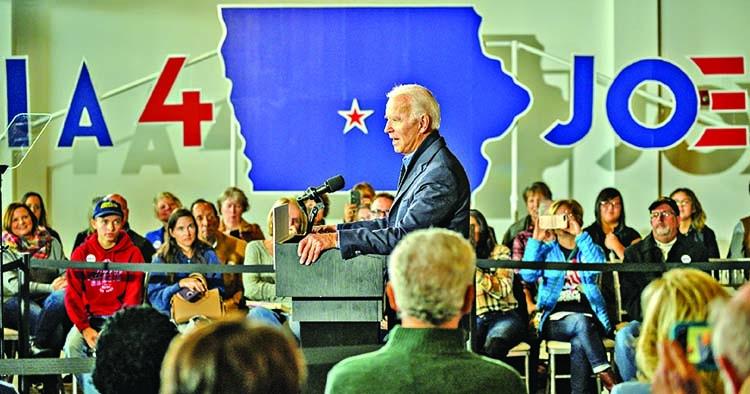 Biden heads to Iowa looking for a rebound