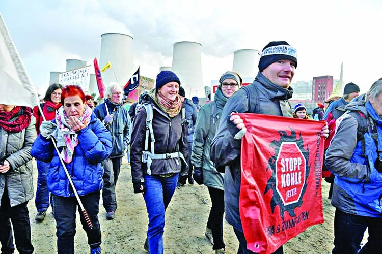 Campaigners occupy German coal mines in climate protest
