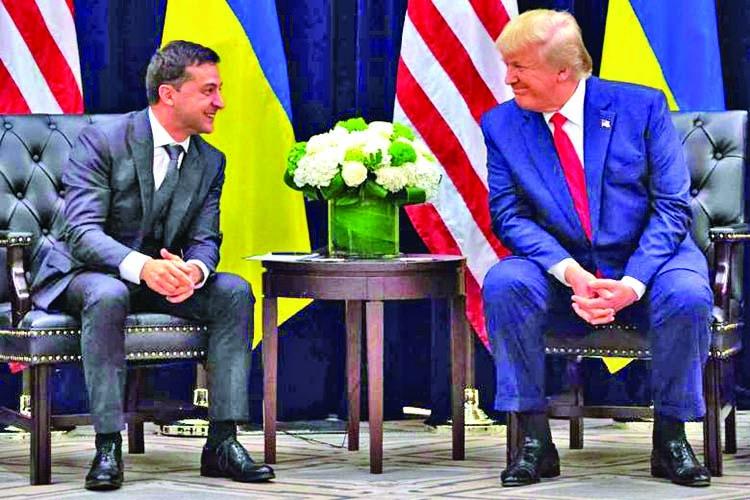 Zelensky denies quid pro quo with Trump