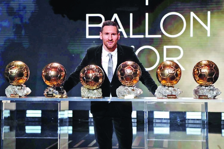 Messi claims record sixth men's Ballon d'Or