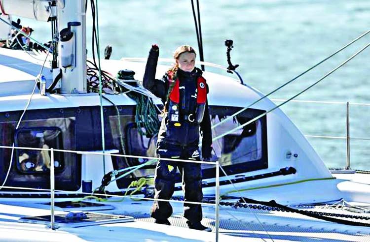 Greta reaches Lisbon on way to Madrid summit