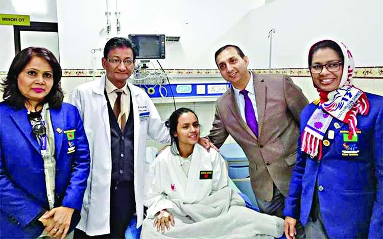 Karate gold-medalist Priya out of danger