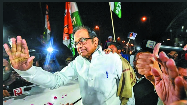 P Chidambaram freed on bail