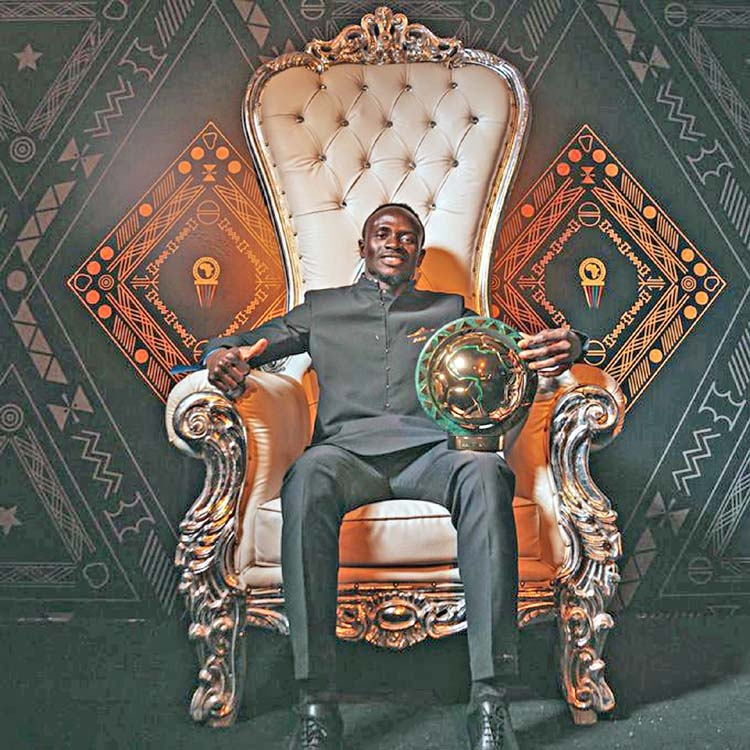 Mane crowned king of Africa