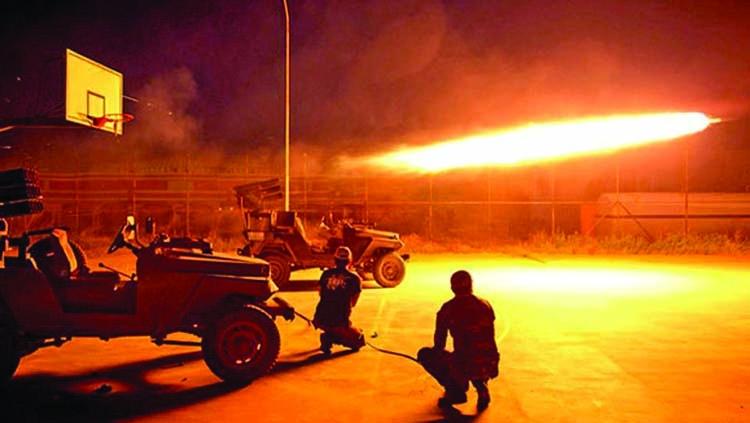 Rocket falls near Iraqi base housing US troops
