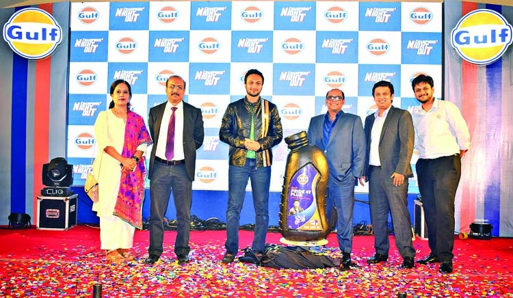 Shakib teams up with Gulf Oil
