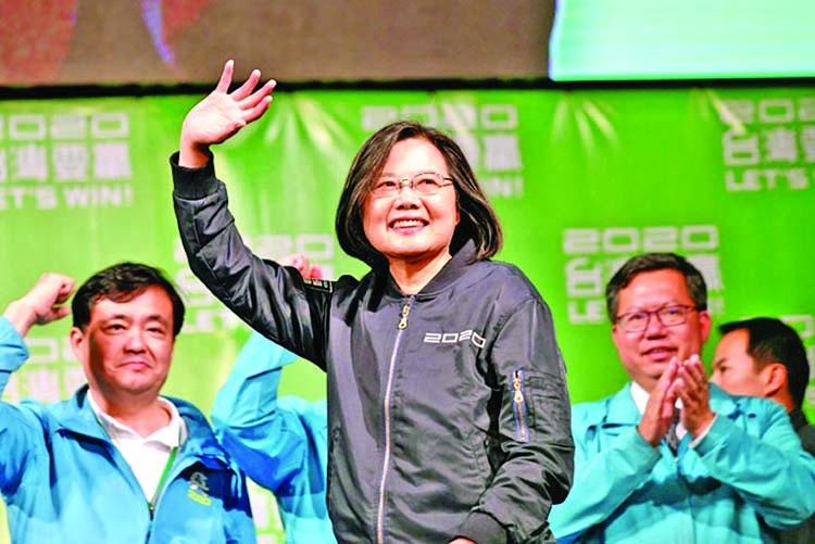 Tsai wins landslide in stinging result for China