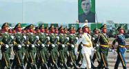 Chinese troops take part in Pakistan Day parade