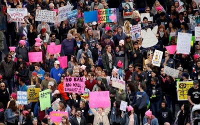 US women stage nationwide protests