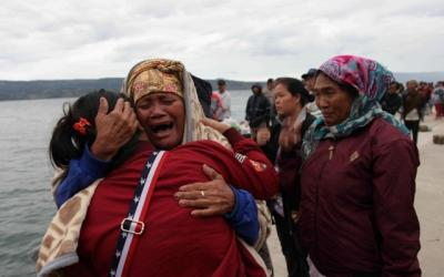 128 missing after ferry sinks in Indonesia