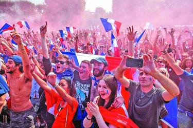 Celebrations in France after 20 years