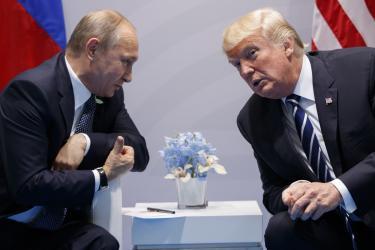 Trump blames bad Russia ties on FBI \'witch hunt\'