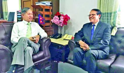 Dr Atiur Rahman meets Nepal Finance Minister