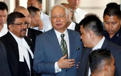 Former Malaysian PM Najib arrested