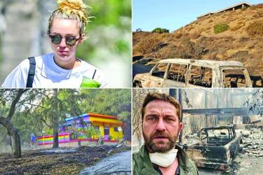 Miley and Gerard's houses gutted in California fire