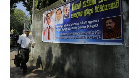 Chaotic Sri Lankan Parliament rejects president\'s chosen PM