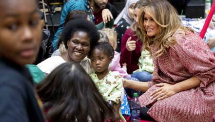 First lady spreads anti-bullying message at kids\' hospital