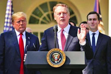 USTR Lighthizer, tough negotiator in Trump\'s shadow