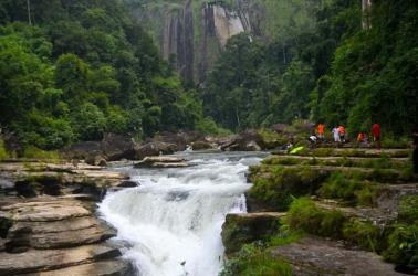 Natural waterfall of Bandarban