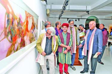 Painting exhibition titled \'Guru-Shishya: Shishya Guru\'