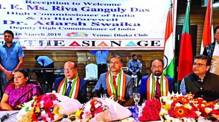 Riva Ganguly accorded reception