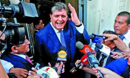 Former Peru president dies after shooting himself before arrest