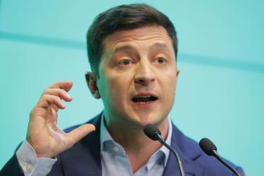 TV actor wins Ukraine presidential vote in a landslide