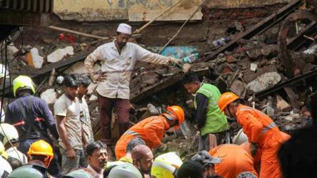 Woman rescued as death toll rises in Mumbai building collapse