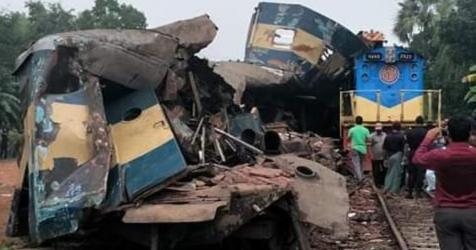 Fatal train collision in Brahmanbaria; 16 dead, over 100 injured