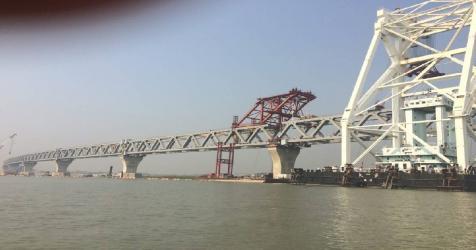 Padma Bridge: 18th span being installed