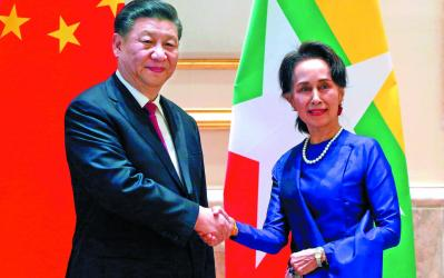 Xi begins \'historic\' Myanmar visit