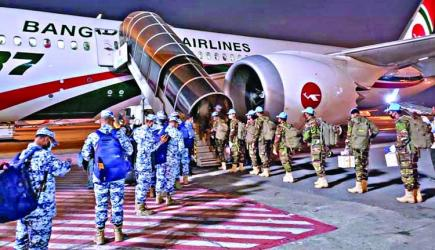Biman carries Bangladeshi UN peacekeepers for first time