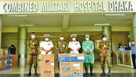 Navy provides fridges and ACs for corona wards in CMH